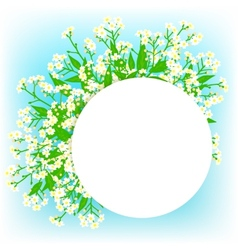 card with small white flowers vector image vector image
