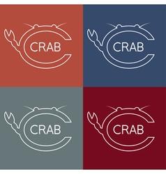 Crab monogram vector
