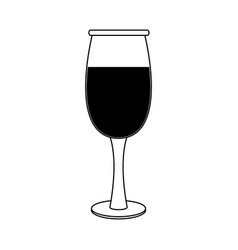 Glass of wine icon image vector