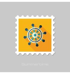 Helm flat stamp summer marine vector