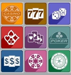 Icons Casino vector image vector image
