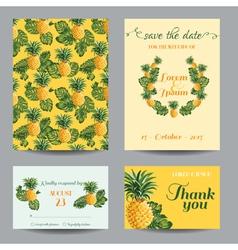Invitation-congratulation card set vector