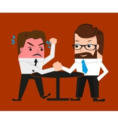 Lucky businessman has won a competitor vector image vector image