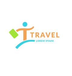 modern bright logo travel company the emblem of vector image vector image