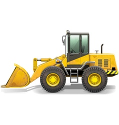 Old bulldozer vector