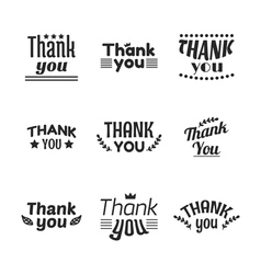 Set of vintage style Thank You labels emblems vector image