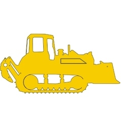 Silhouette of a heavy loaders with ladle vector image vector image