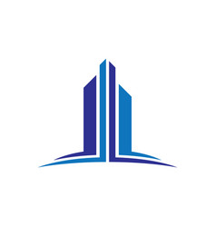 skyscraper business finance logo vector image vector image