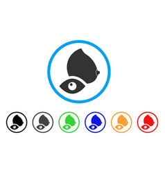 View female breast rounded icon vector