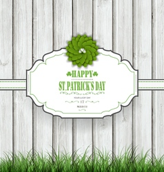 Wooden Saint Patricks Background vector image vector image
