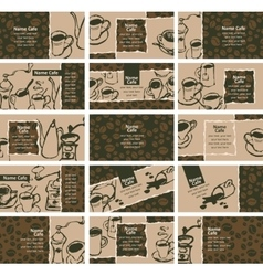 business cards on coffee and tea vector image