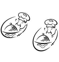 Chinese chef vector image