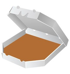 box for pizza vector image
