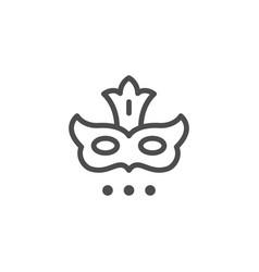 masquerade mask line icon vector image