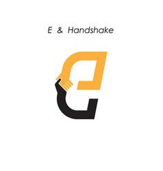Creative e letter icon abstract logo design vector