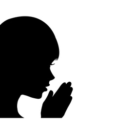 Young girl praying vector