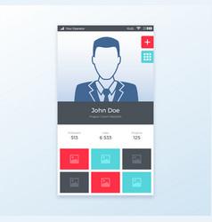 Personal profile ui app design vector