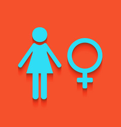 Female sign whitish icon on vector
