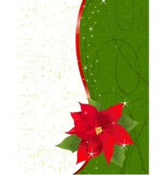 poinsettia place card vector image