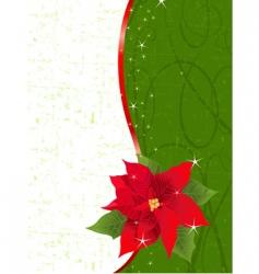 poinsettia place card vector image