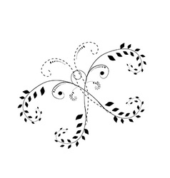 Butterfly tatoo abstract on white background vector image