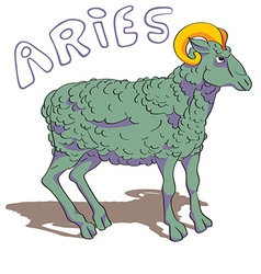 aries sign colored vector image