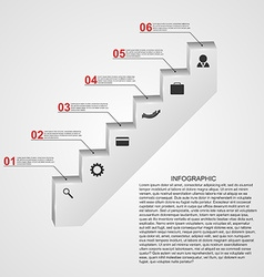 Infographic in the form of steps stairs design vector