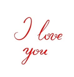 I love you - calligraphy vector