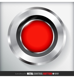 Circle metal record button applicated for html and vector
