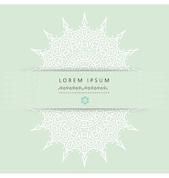 Ethnic circular greeting gentlecards and vector