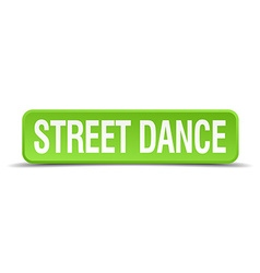 Street dance green 3d realistic square isolated vector