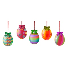 Easter eggs hinging vector