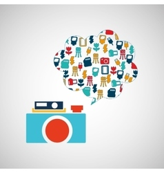 Photographic camera design vector