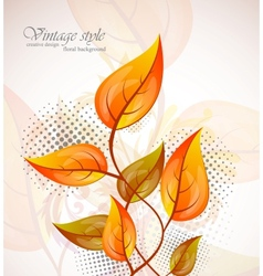 Background with orange leaves vector