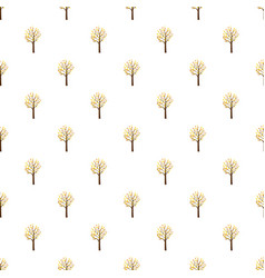 Autumn tree pattern vector