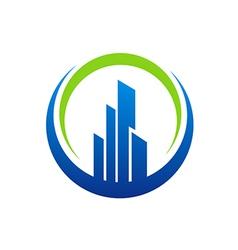Building city construction logo vector