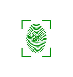 fingerprint on scanner access vector image