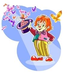 funny clown vector image