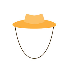 garden or cowboy hat of a vector image vector image