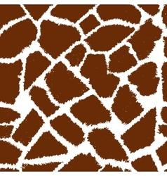 giraffe skin vektor pattern vector image