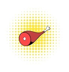 Hamon icon in comics style vector