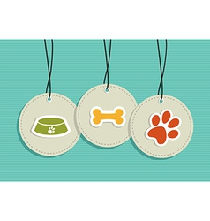 Hanging pet badges set vector image vector image