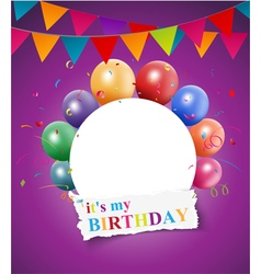 Happy Birthday greeting card design vector image