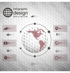 Infographic template for business design hexagonal vector