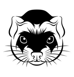 Line ferret head vector
