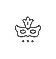 Masquerade mask line icon vector