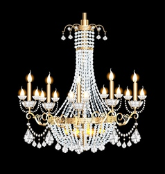 modern chandelier with crystal pendants vector image