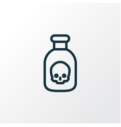 Poison outline symbol premium quality isolated vector