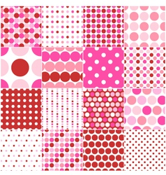 seamless circular polka dots vector image vector image