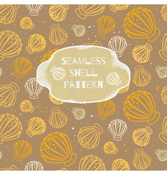 Seamless shell pattern vector image